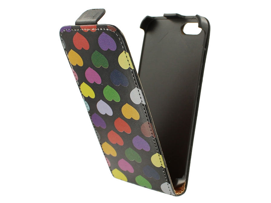 Call Candy Colored Hearts Flip Case - Hoesje voor iPhone 5/5S