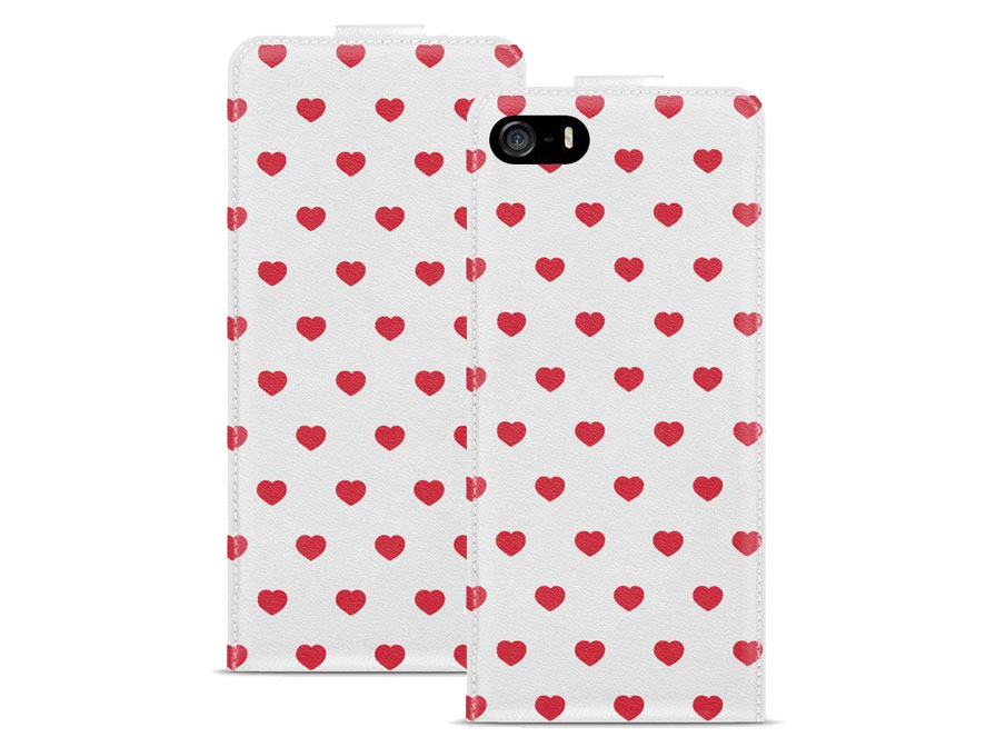 Call Candy Red Hearts Flip Case - Hoesje voor iPhone 5/5S