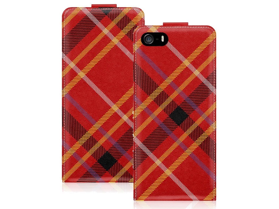 Call Candy Tartan Flip Case - Hoesje voor iPhone 5/5S