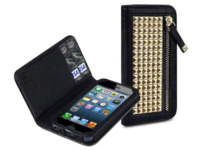 Covert Roxie Studded Wallet Case Hoesje voor iPhone 5/5S