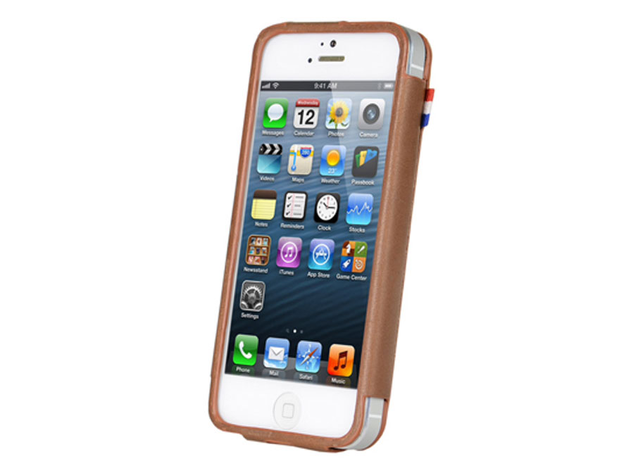 Decoded Frame Leren Case - iPhone SE / 5s / 5 hoesje