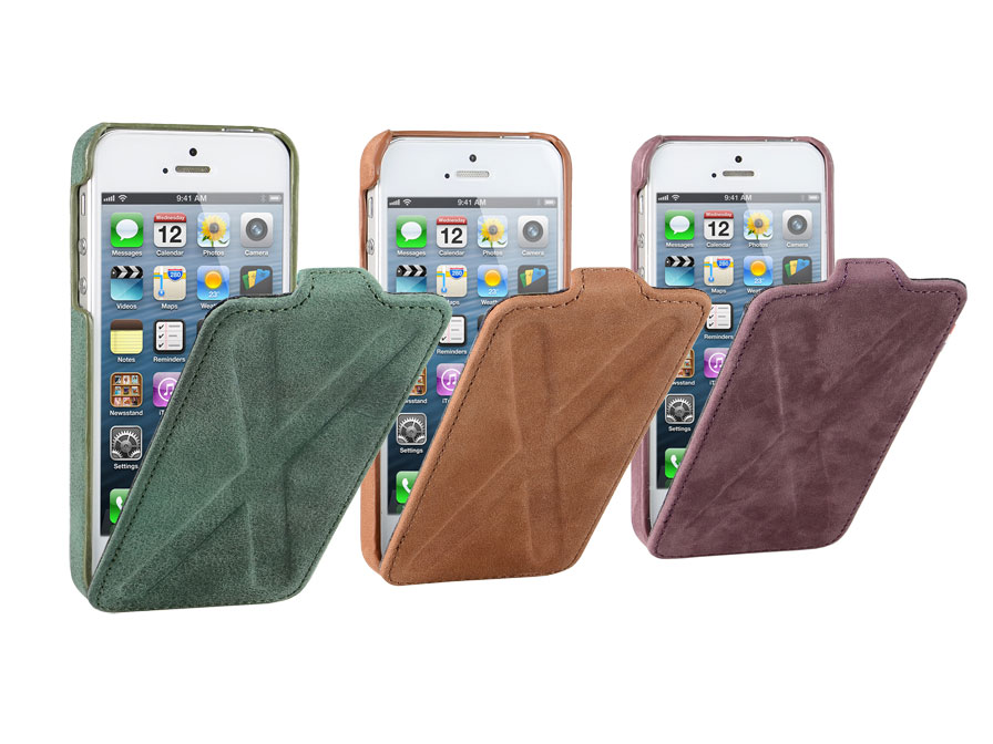 Decoded Vintage Flip Case - Leren Hoesje voor iPhone 5/5S