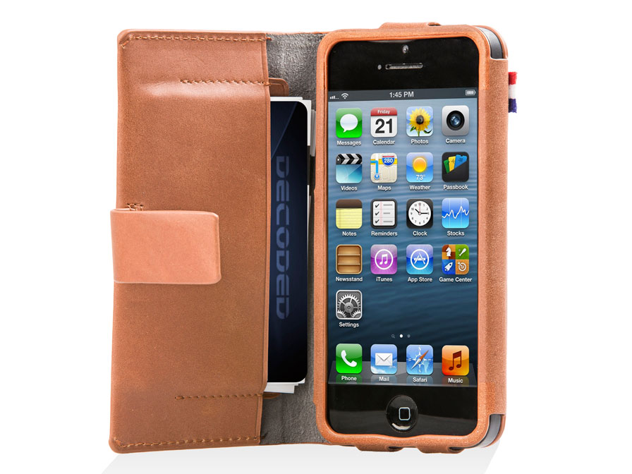 Decoded Wallet Case - Lederen Hoesje voor iPhone 5/5S