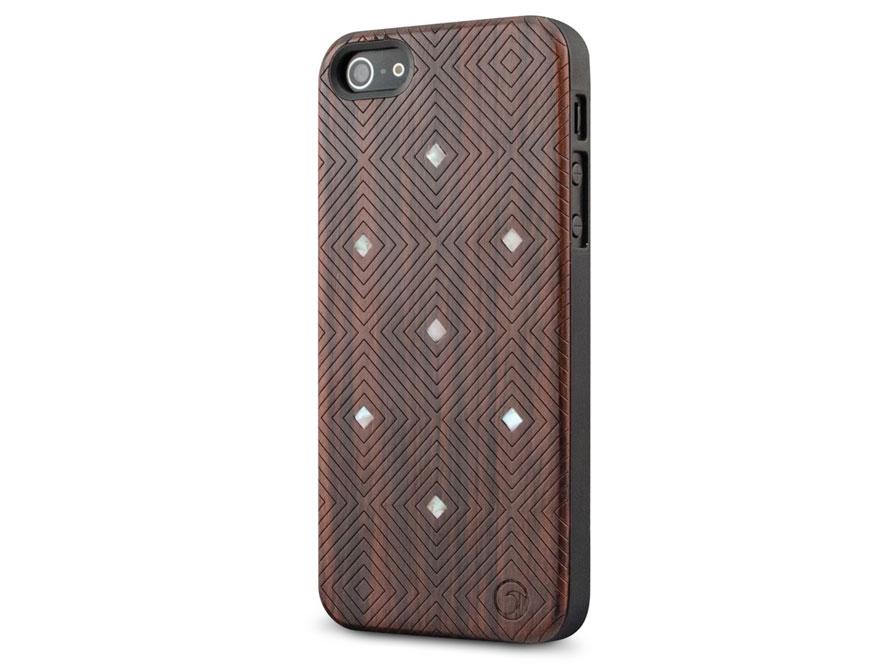 Marblue Orion - Houten iPhone SE/5s/5 hoesje Bruin