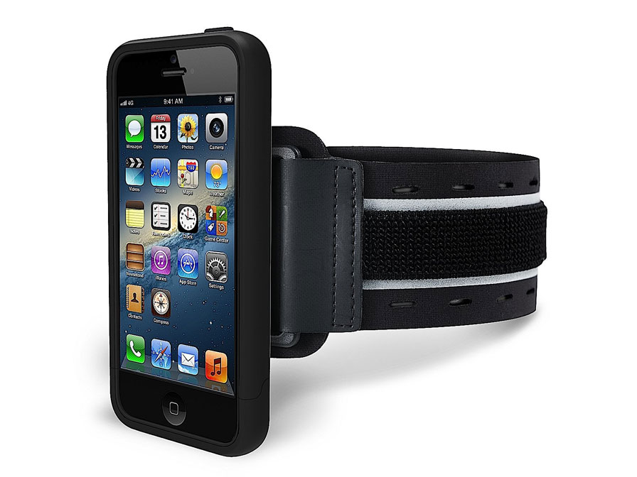 Marblue SportShell - iPhone SE/5s/5 Hoesje + Armband Zwart