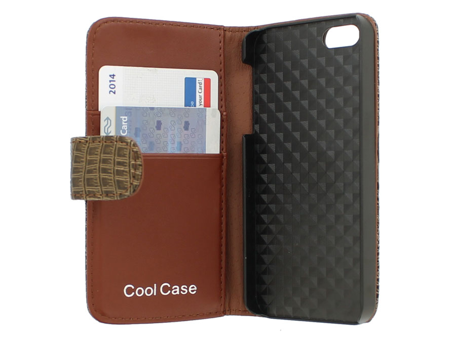 Croco Bookcase - iPhone SE / 5s / 5 hoesje