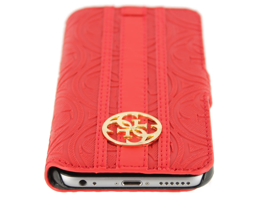 Guess Heritage Folio Case Rood - iPhone 6/6S hoesje