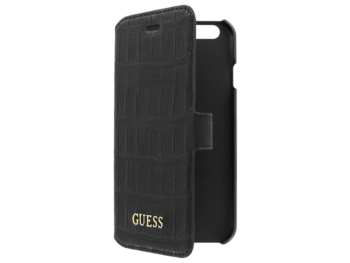 Guess Black Croco Bookcase - iPhone 6/6s hoesje