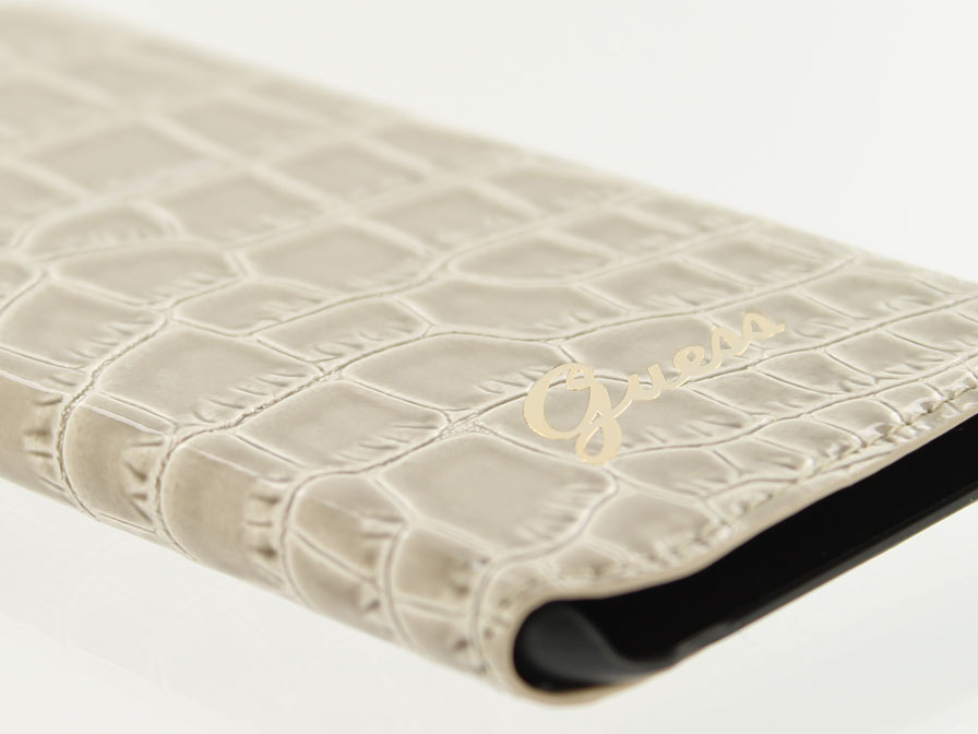 Guess Glossy Croco Folio - iPhone 6/6S hoesje