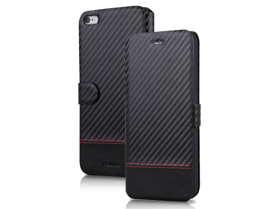 ITSKINS Angel Carbon Bookcase - iPhone 6/6S hoesje