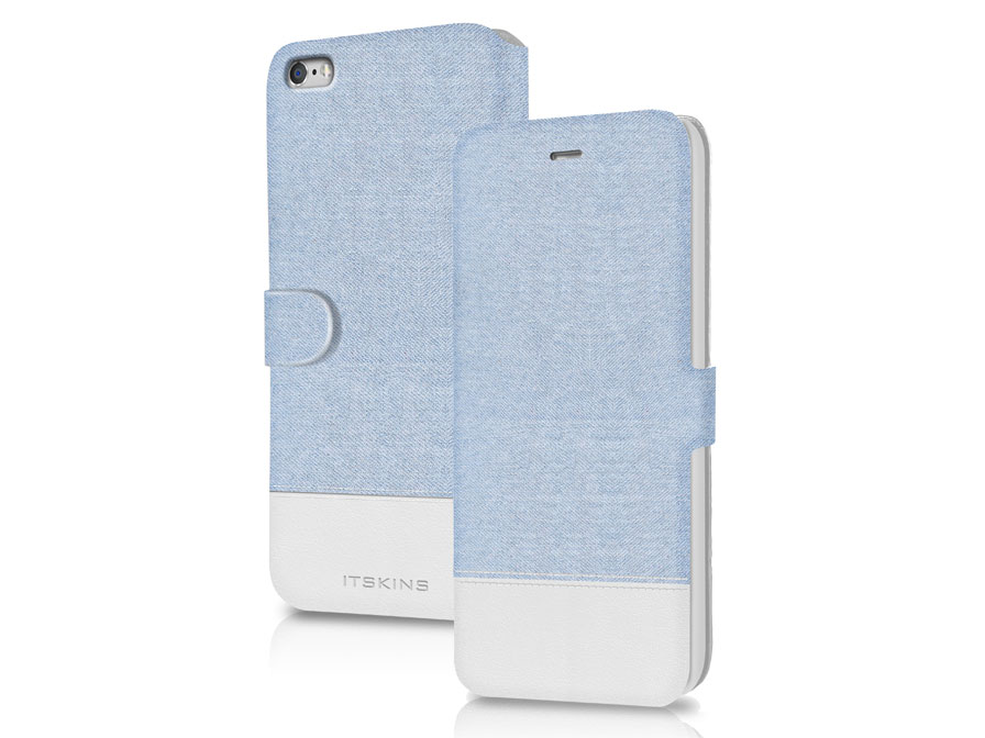 ITSKINS Angel Denim Bookcase - iPhone 6/6S hoesje