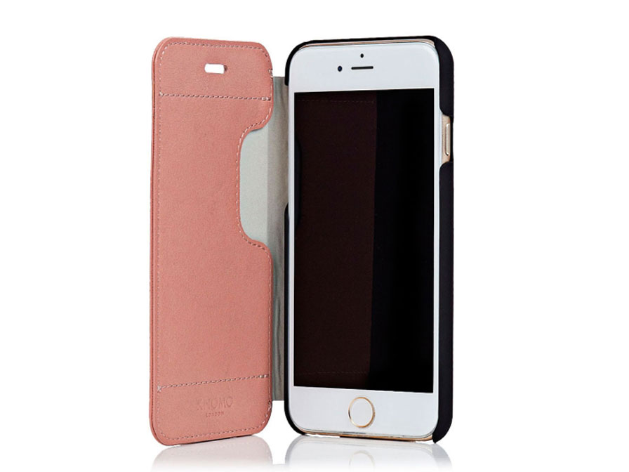 Knomo Leather Folio - Sideflip Case voor iPhone 6/6S