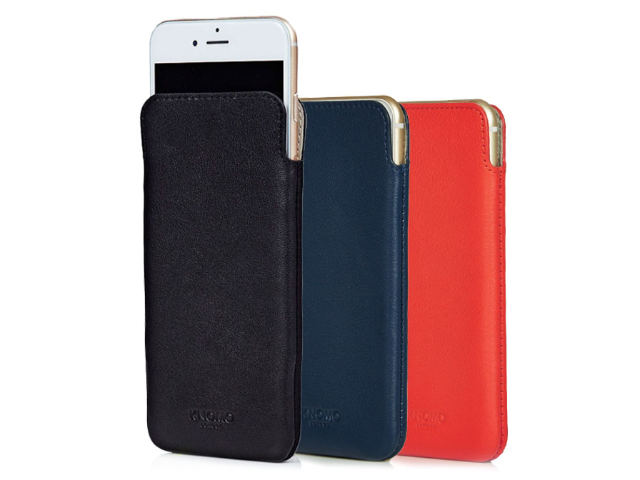 Knomo UltraSlim Sleeve - Leren iPhone 8/7/6s hoesje