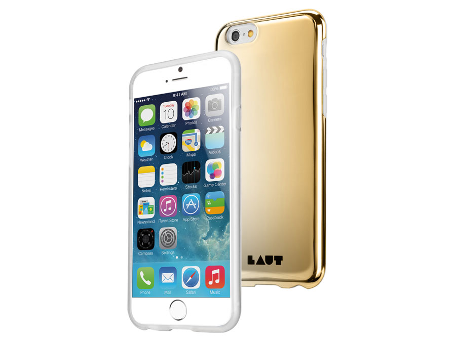 LAUT Huex Gold & Silver - Glanzend iPhone 6/6S hoesje