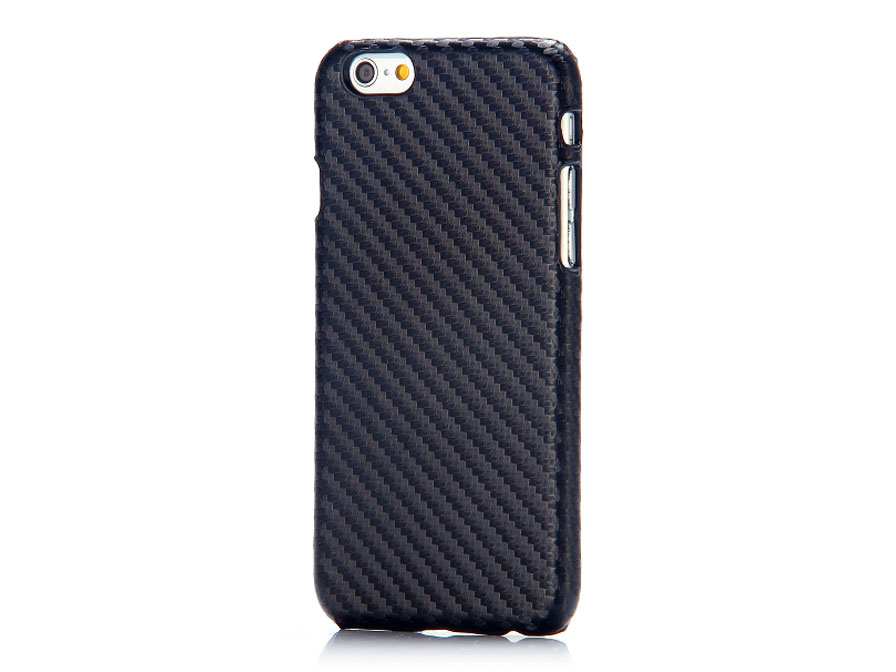 Carbon Leather Back Case - Hoesje voor iPhone 6/6S