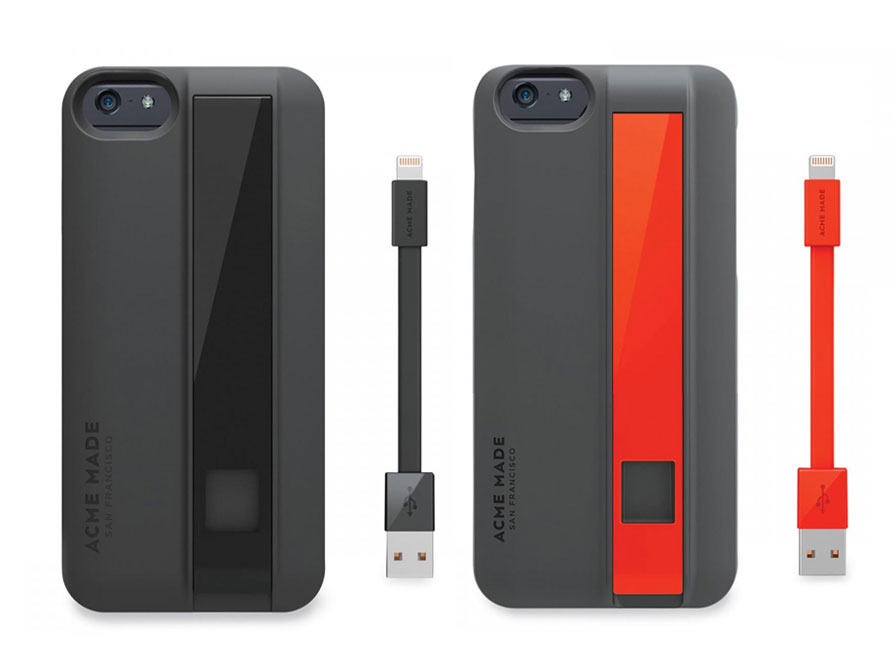 Acme Made Charge Case - iPhone 6/6S hoesje met kabel Oranje