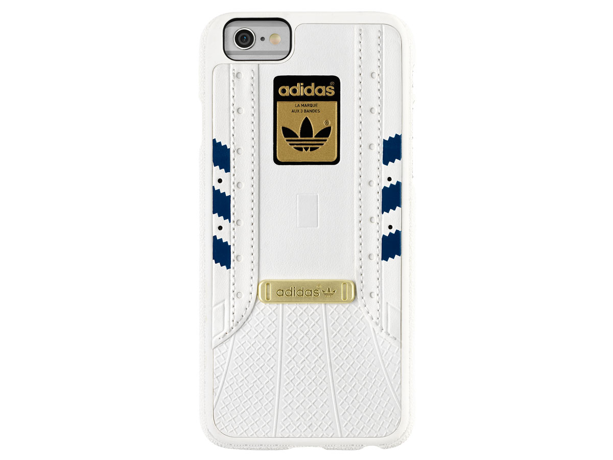 adidas Superstar Case Wit/Blauw - iPhone 6/6S Hoesje