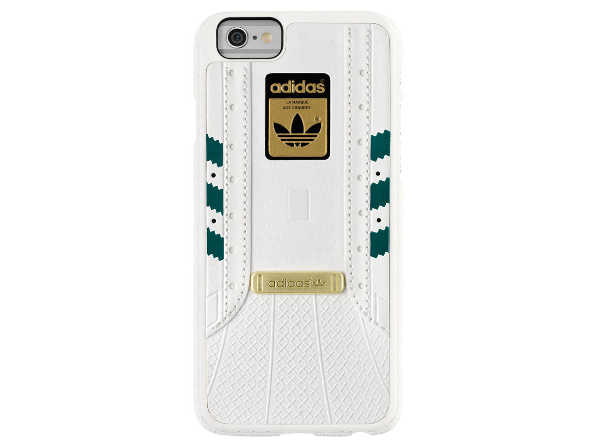 adidas Superstar Case Wit/Groen - iPhone 6/6S Hoesje