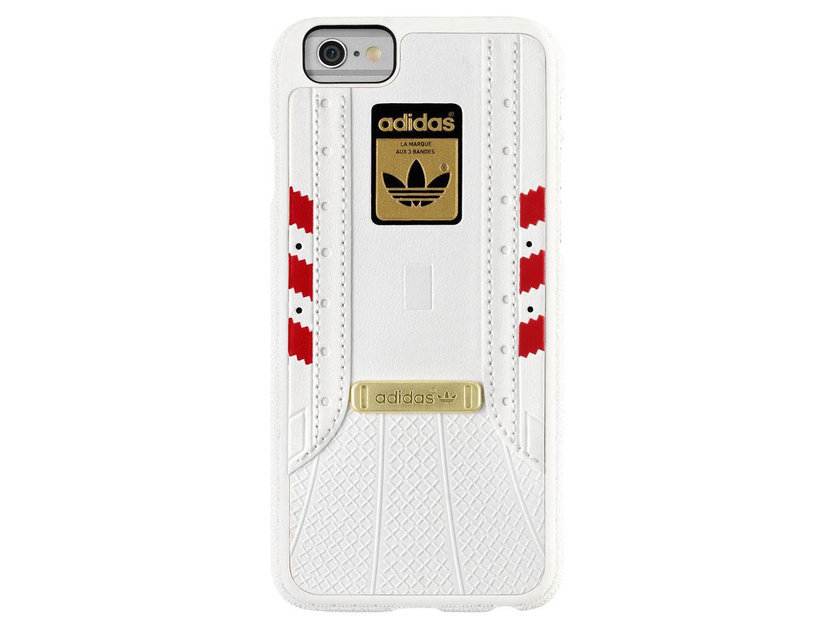 adidas Superstar Case Wit/Rood - iPhone 6/6S Hoesje