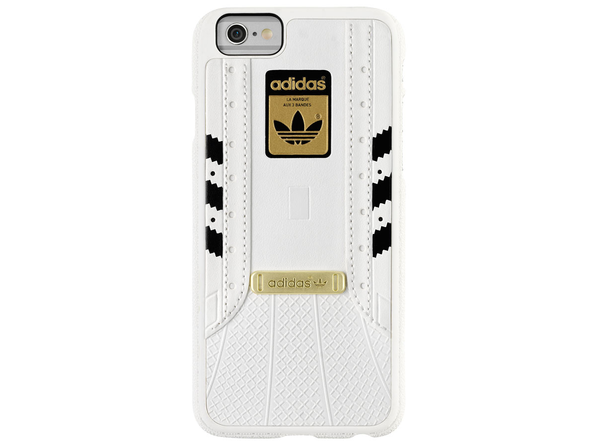 adidas Superstar Case Wit/Zwart - iPhone 6/6S Hoesje