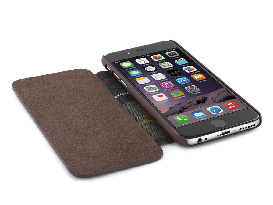 Barbour Leather Style Folio Case - iPhone 6/6S hoesje