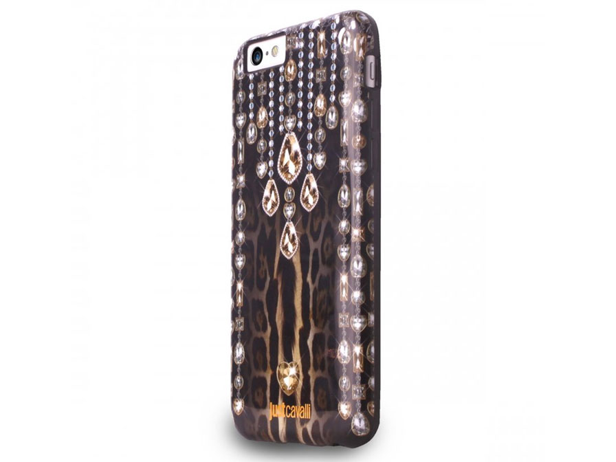 Just Cavalli Leopard Crystals Case - iPhone 6/6s hoesje