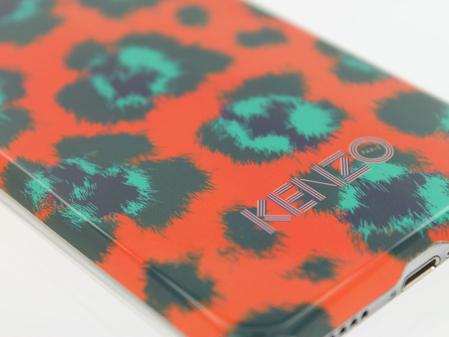 Kenzo Leopard Orange Hardcase - Case voor iPhone 6/6S