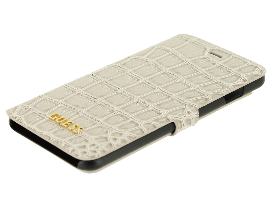 Guess Glossy Croco Folio - iPhone 6 Plus/6S Plus hoesje