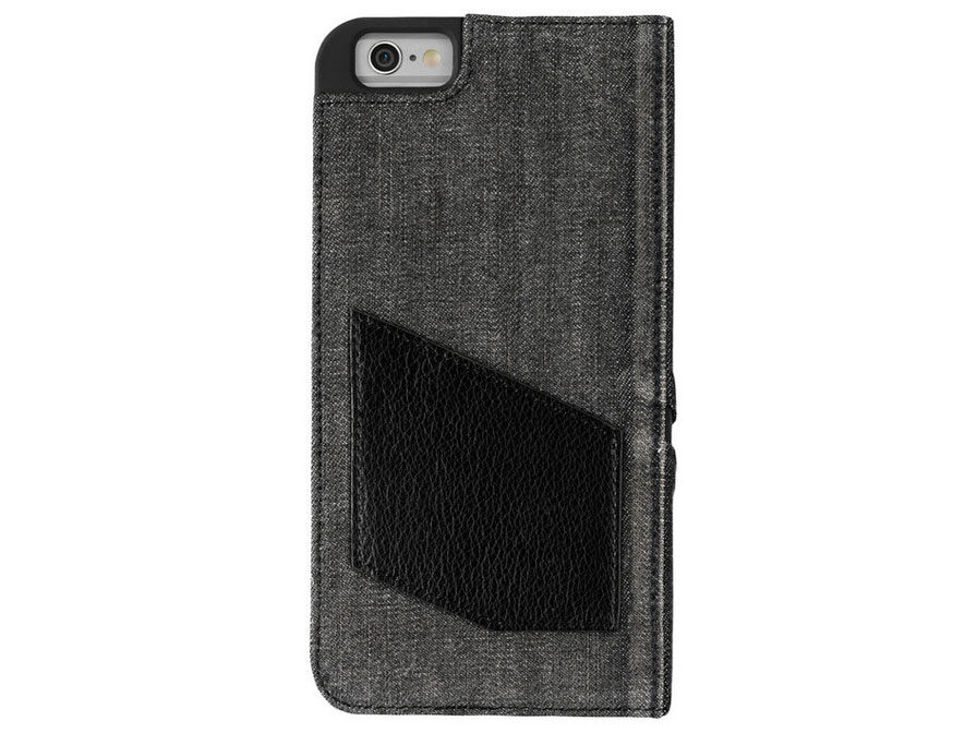 Diesel Black Denim Bookcase - iPhone 6/6s PLUS hoesje