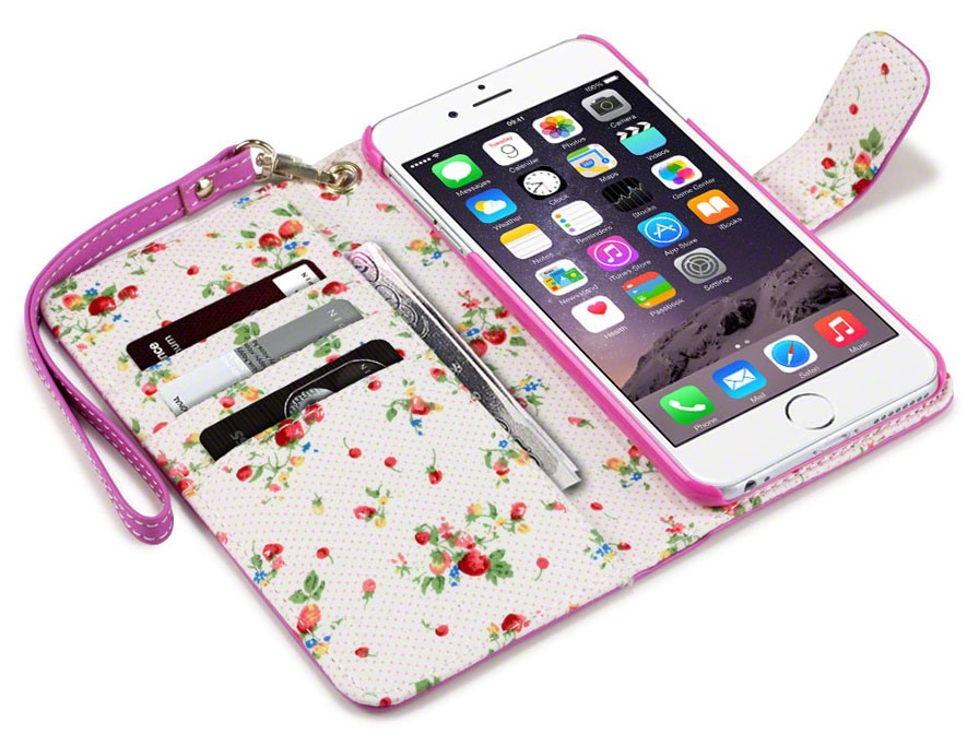 CaseBoutique iPhone 6 Plus/6S Plus hoesje - Flower Wallet