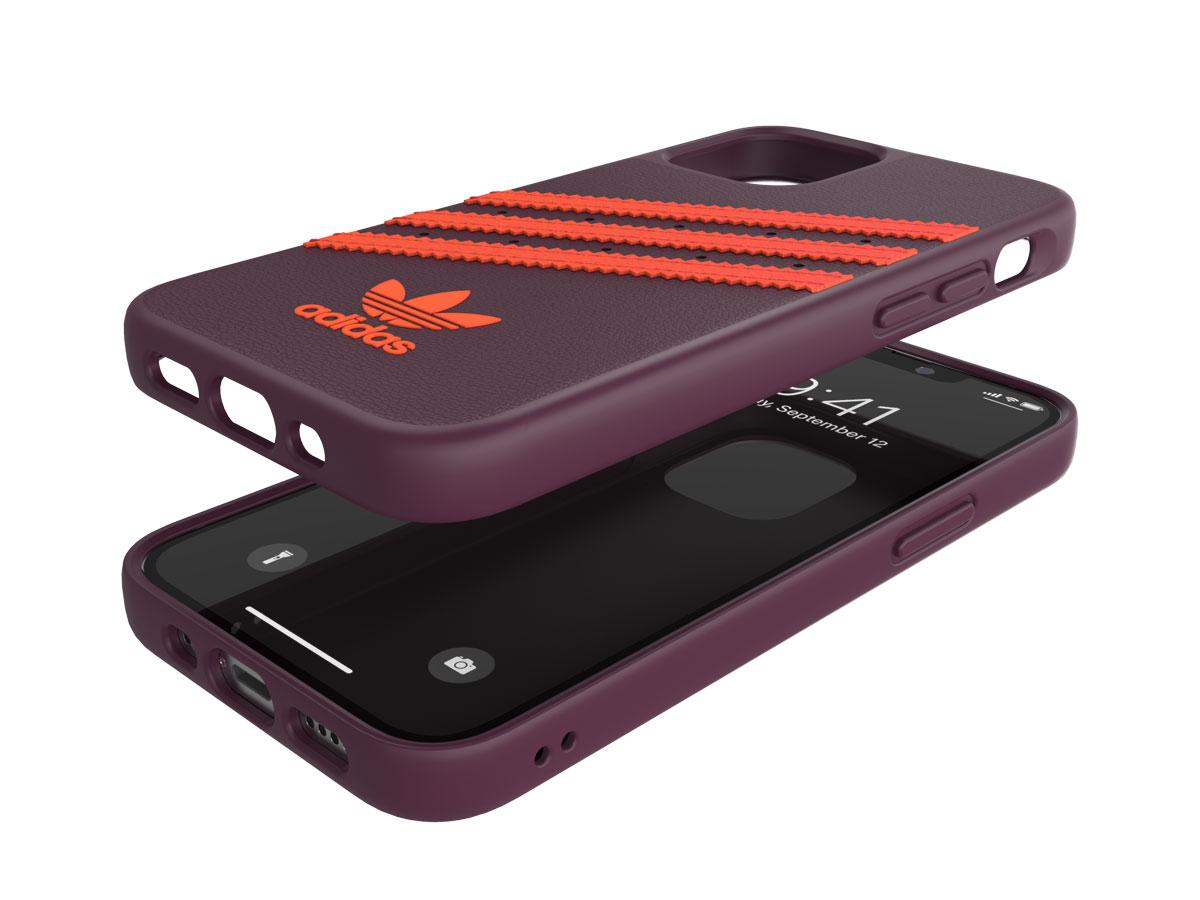 Adidas Originals Case Maroon/Orange - iPhone 12 Mini hoesje