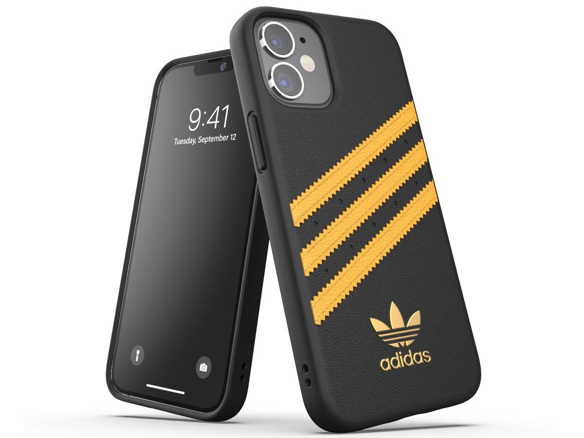 Adidas Originals Case Zwart/Oranje - iPhone 12 Mini hoesje
