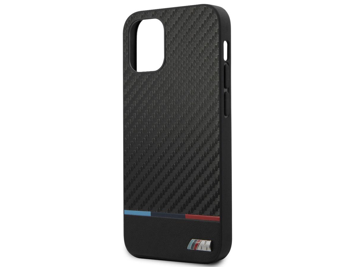 BMW M Sport Tricolor Carbon Case - iPhone 12 Mini hoesje
