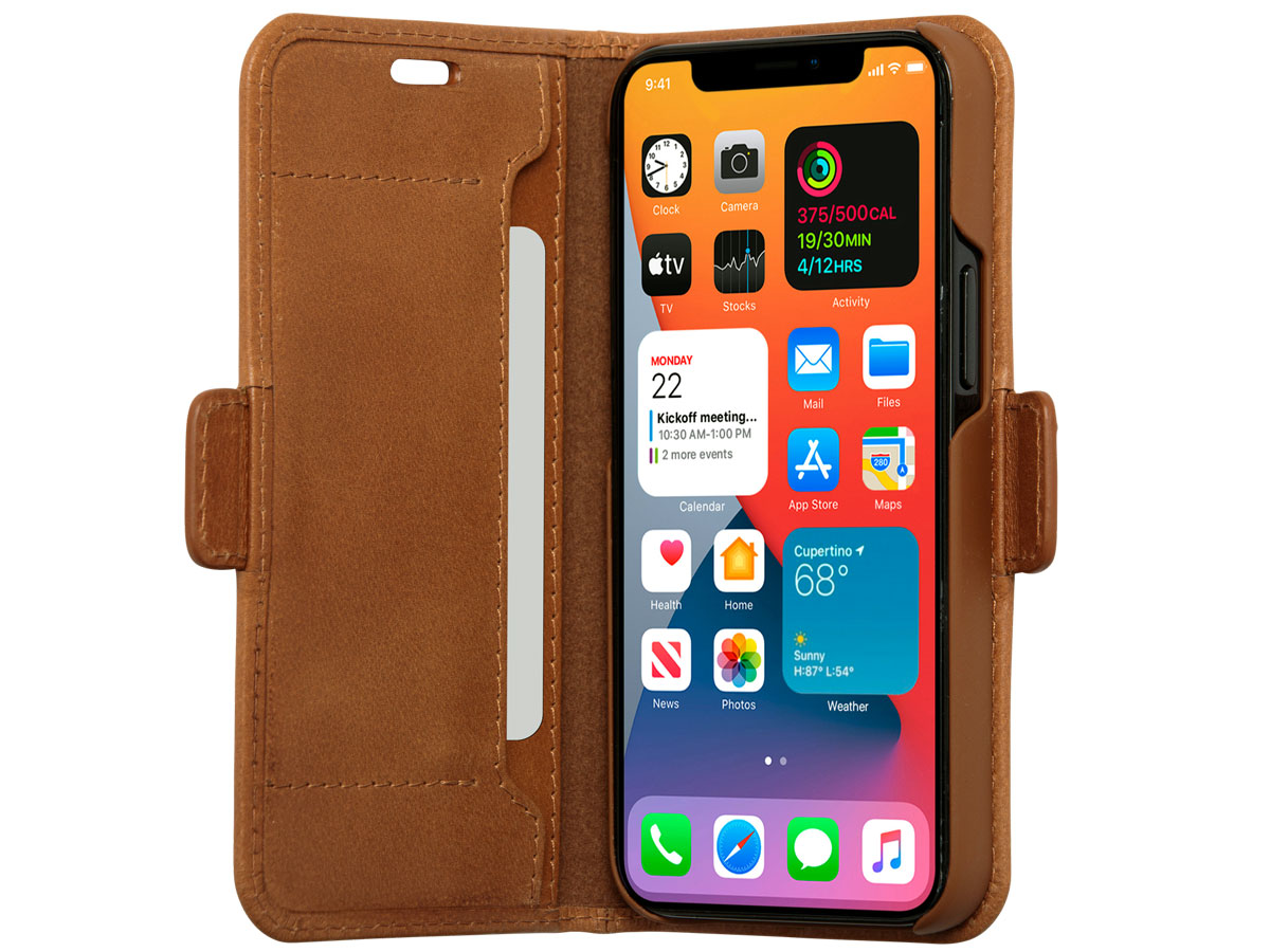 dbramante1928 Copenhagen Slim Tan - iPhone 12 Mini hoesje Cognac