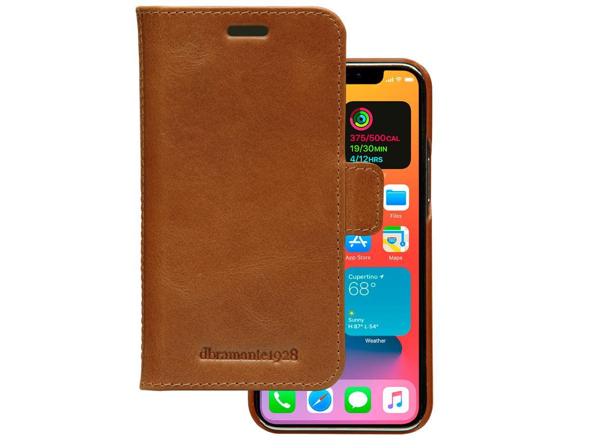 dbramante1928 Lynge Folio Tan - iPhone 12 Mini Hoesje Leer