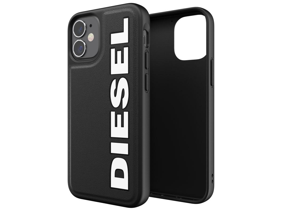 Diesel Logo Case Zwart - iPhone 12 Mini hoesje