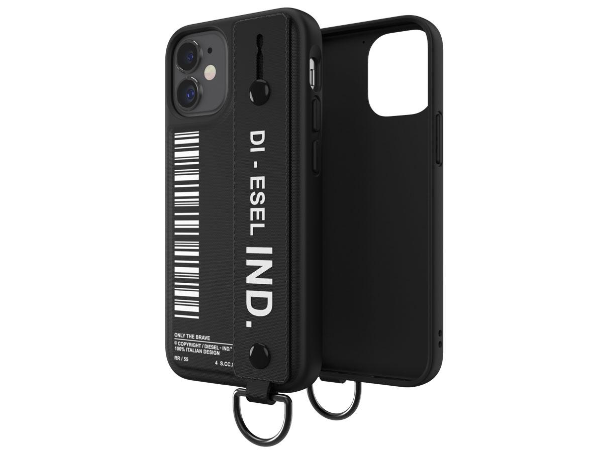 Diesel Handstrap Case Zwart - iPhone 12 Mini hoesje