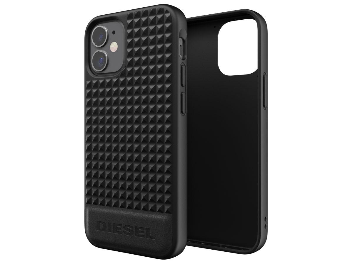 Diesel Leather Studs Case - iPhone 12 Mini hoesje