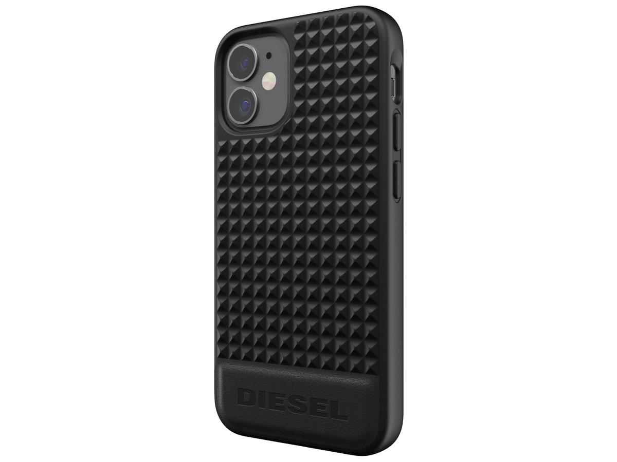 Diesel Leather Studs Case - iPhone 12 Mini hoesje Zwart