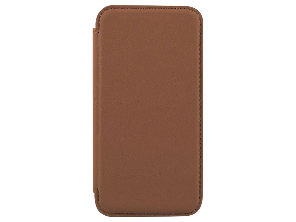 Greenwich Blake Leather Folio Saddle - iPhone 12 Mini Hoesje