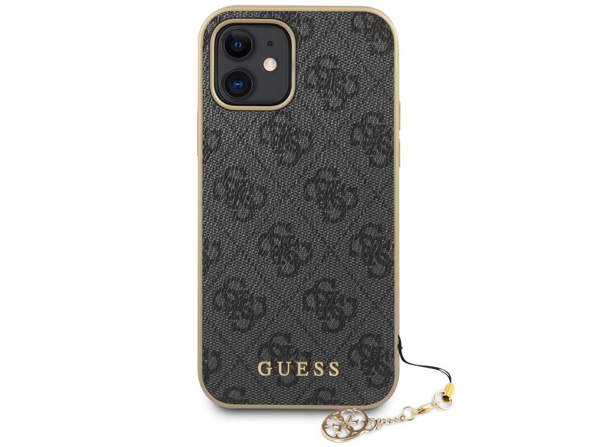 Guess 4G Monogram Charm Case Grijs - iPhone 12 Mini hoesje