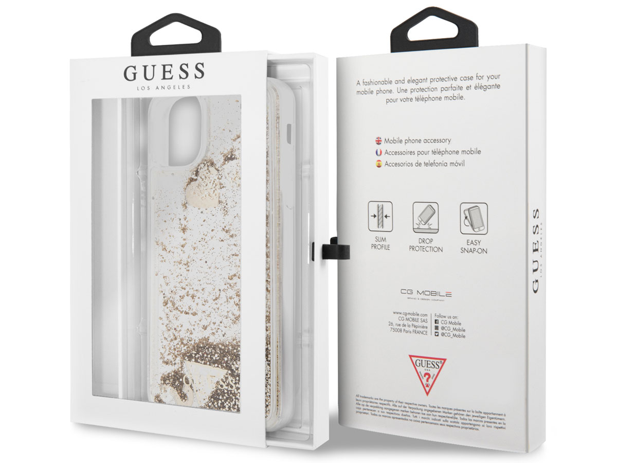 Guess Floating Charms Case Goud - iPhone 12 Mini hoesje