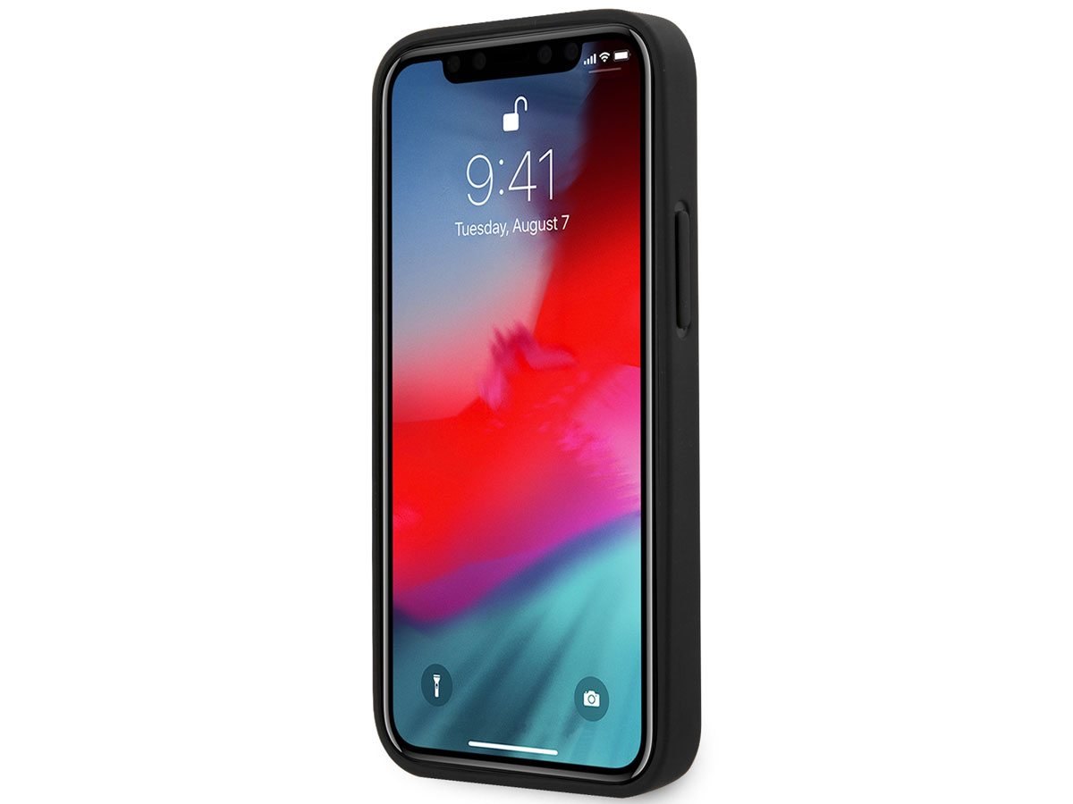 Guess 4G Triangle Case Grijs - iPhone 12 Mini hoesje