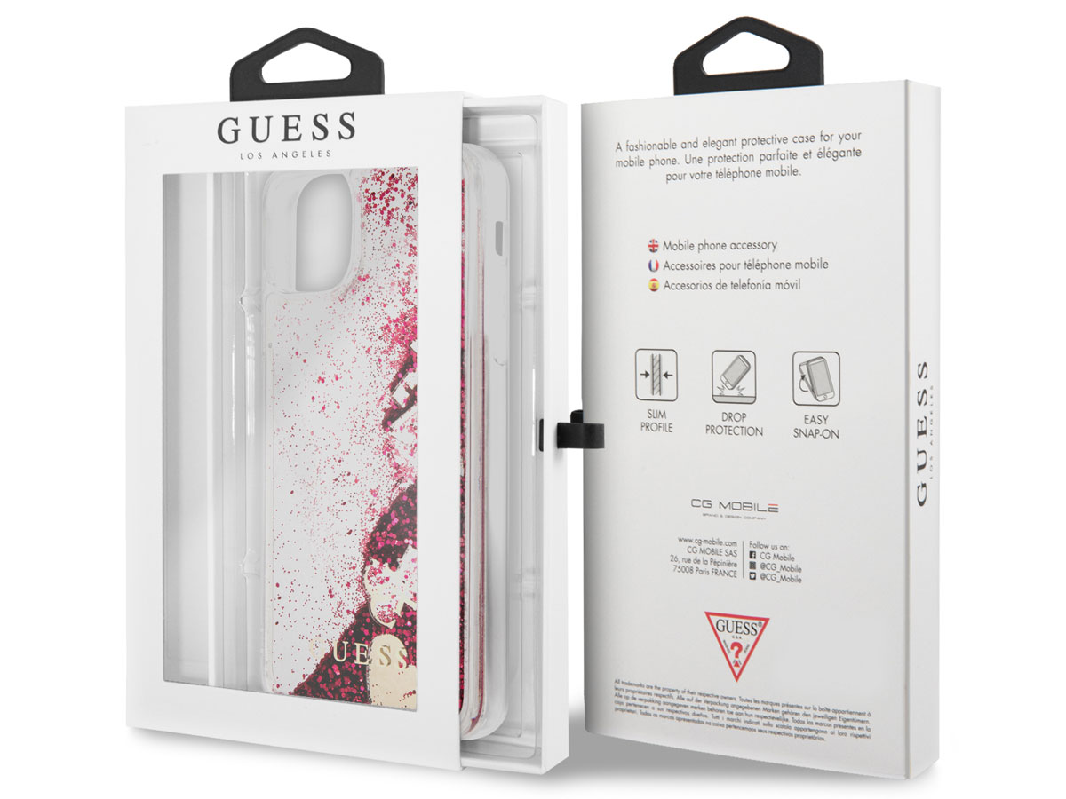 Guess Floating Charms Case Roze - iPhone 12 Mini hoesje