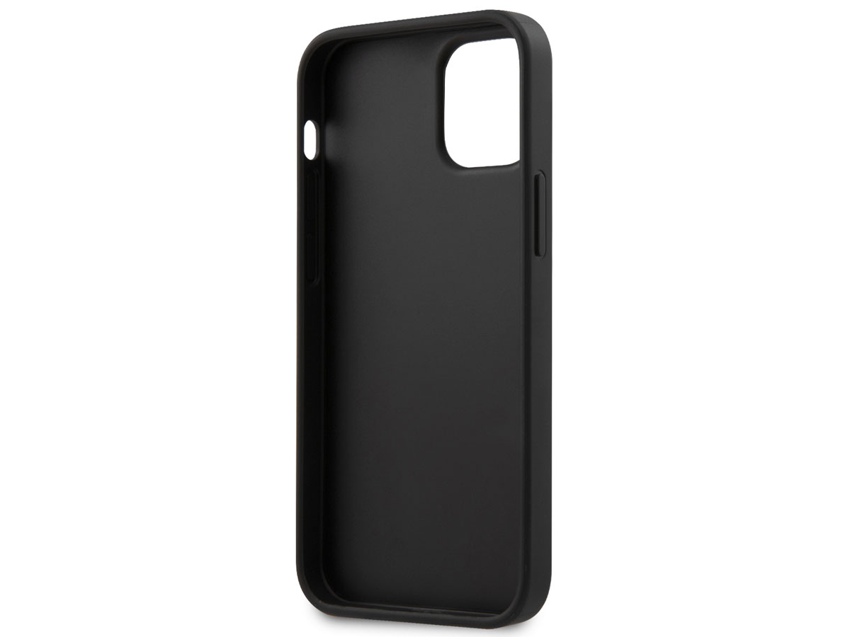 Guess Saffiano Case Roze - iPhone 12 Mini hoesje