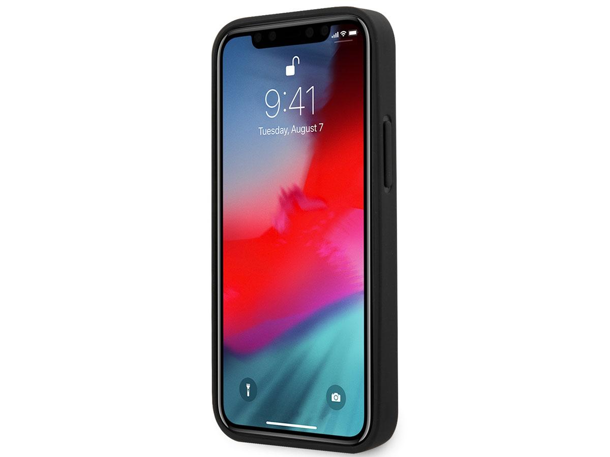 Guess Saffiano Case Zwart - iPhone 12 Mini hoesje