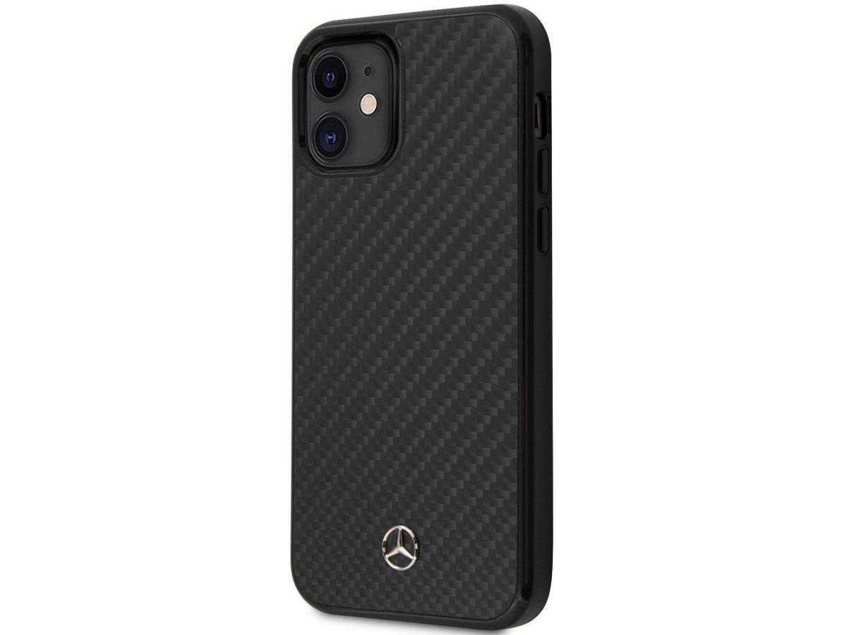 Mercedes-Benz Dynamic Line Carbon Case - iPhone 12 Mini hoesje Zwart