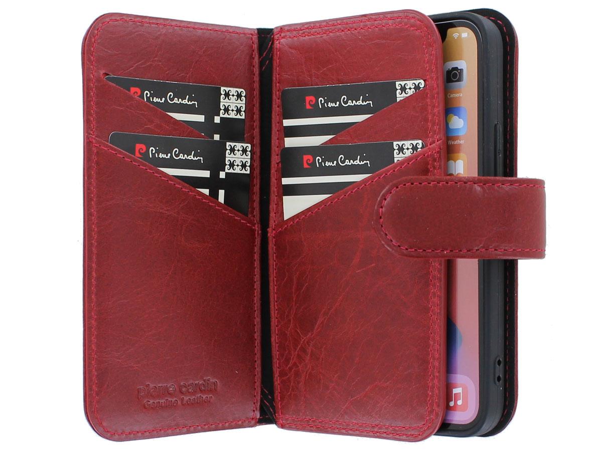 Pierre Cardin True Wallet Rood Leer - iPhone 12 Mini hoesje