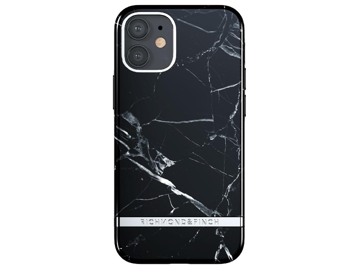 Richmond & Finch Black Marble Case - iPhone 12 Mini hoesje Zwart