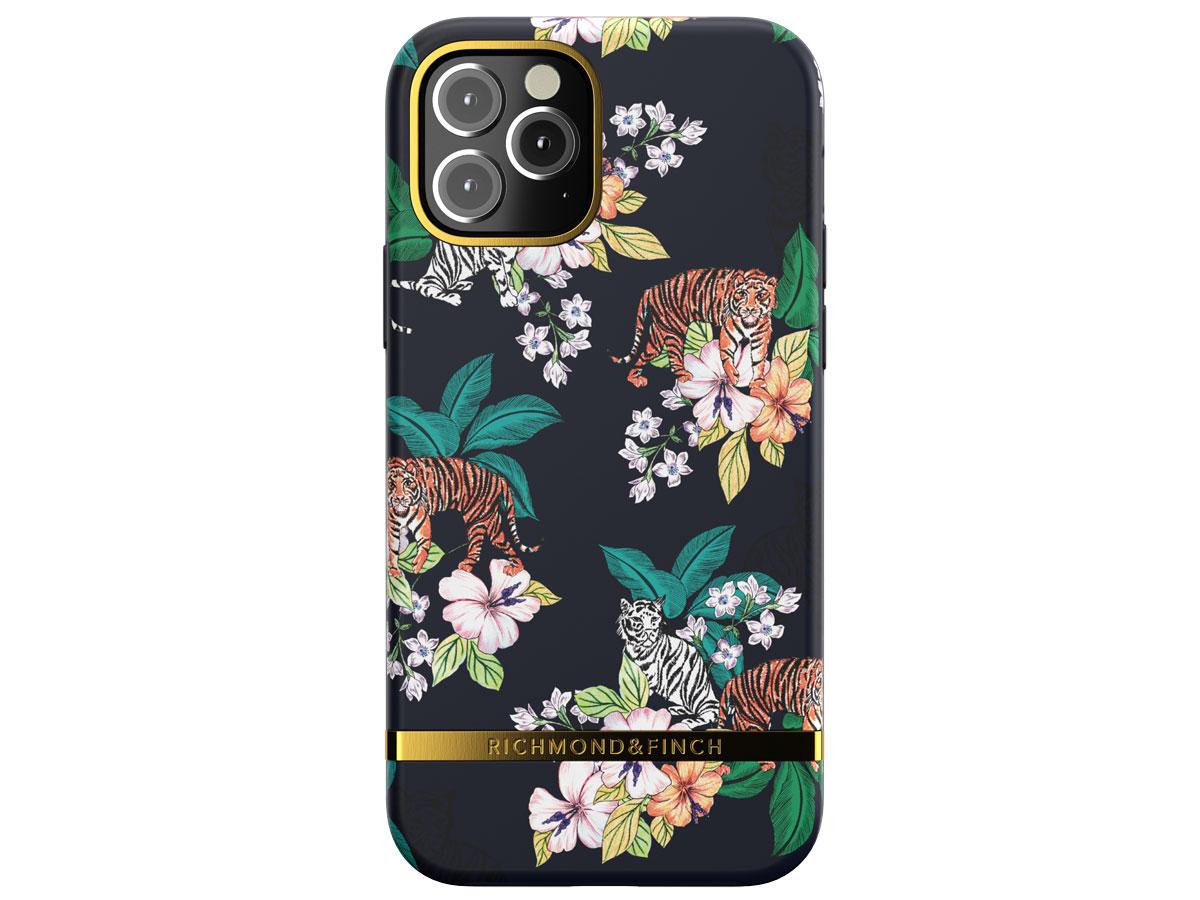 Richmond & Finch Floral Tiger Case - iPhone 12 Mini hoesje Zwart